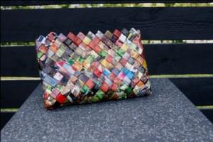 Flettetaske i genbrugspapir
