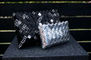 Flettetasker i genbrugspapir fra Katarinas Nisser