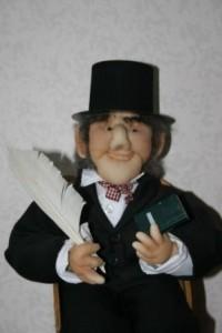 H. C. Andersen som strømpedukke