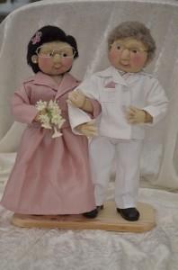 Strømpedukker - som brudepar